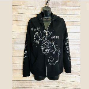 BCBG Maxazria Full Zipper Hooded Black